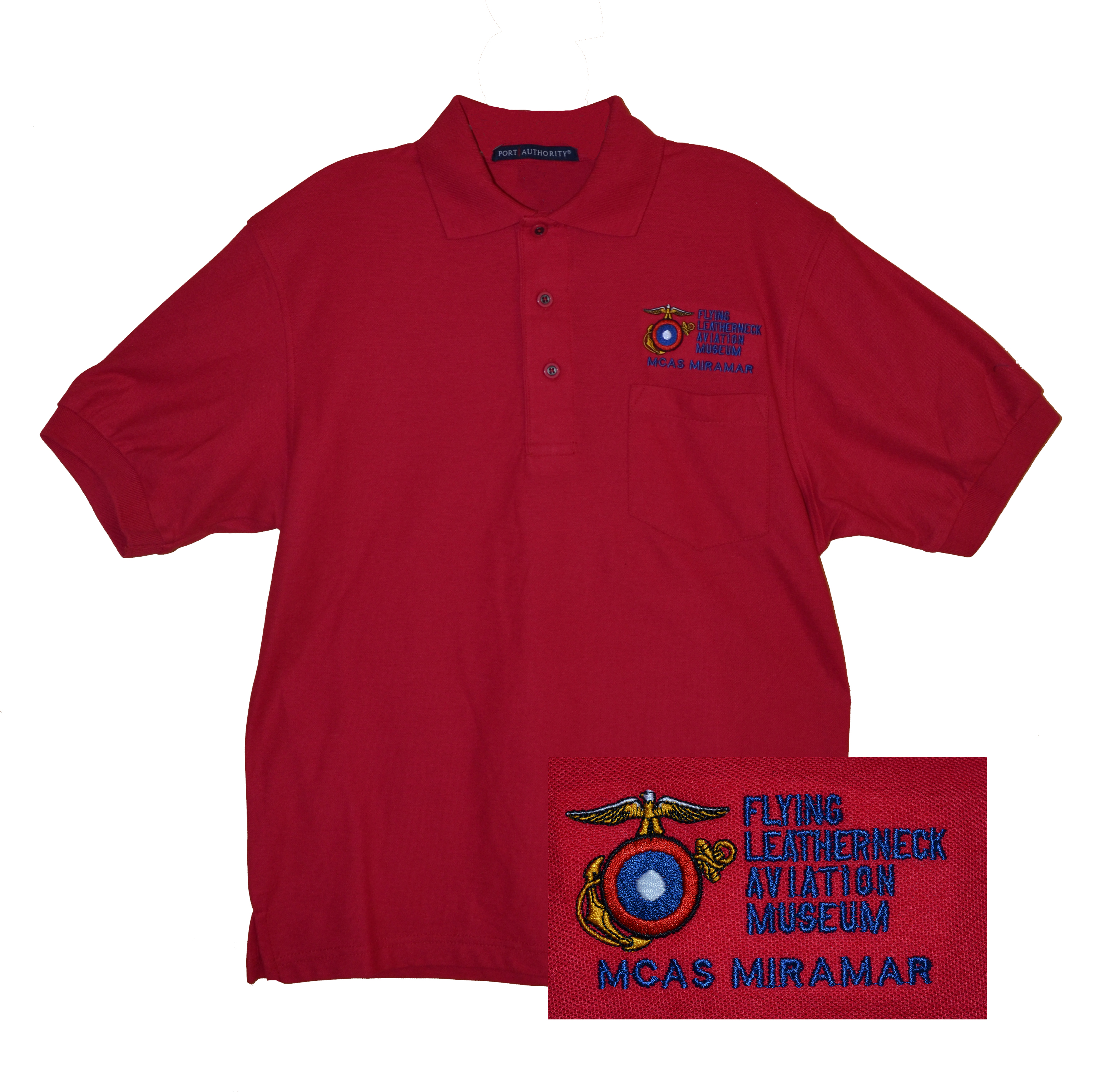 Flying Leatherneck Aviation Museum Polo Shirt – Red