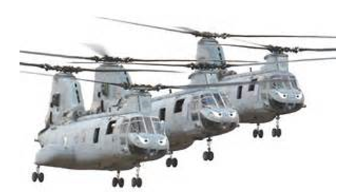phrog CH-46 marine helicopter